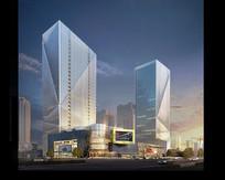 创意商住楼高层建筑模型