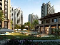 花园式住宅小区高层建筑模型