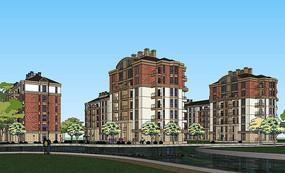 欧式住宅建筑模型