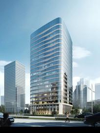 现代化高层建筑模型