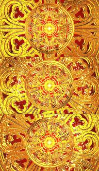 金色花纹背景视频