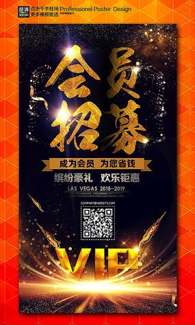 VIP会员招募促销宣传海报