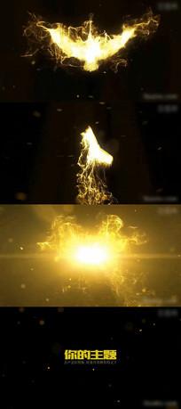 金色粒子凤凰企业LOGO模板