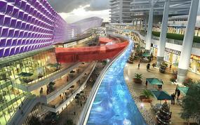特色商场景观建筑模型