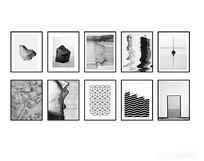 现代黑白装饰画