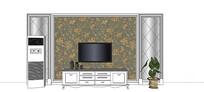 欧式壁纸电视背景墙