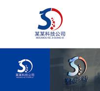 SD字母科技公司LOGO标志