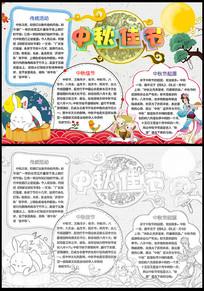 动漫卡通中秋节小报