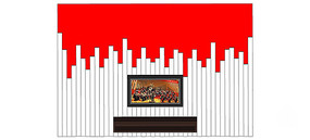 现代创意电视背景墙