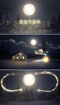 ae圣诞节新年片头模板