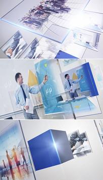 简洁大气三维企业宣传片头模板