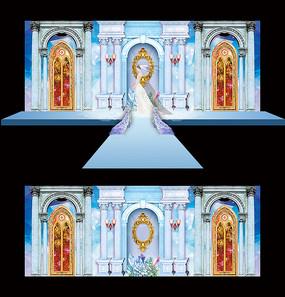 欧式创意婚庆舞台背景设计