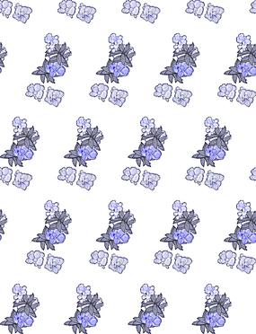 淡紫色花朵平铺背景