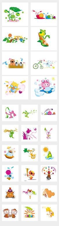 幼儿园动物插画