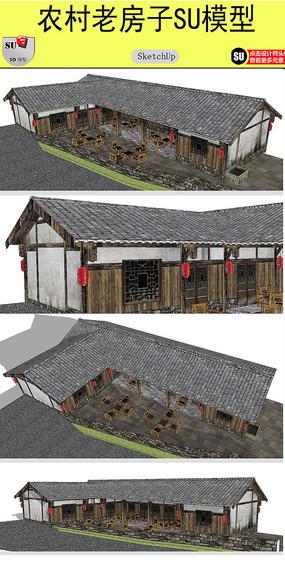 農村老房子設計模型