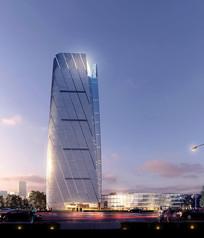 时尚造型高层建筑模型