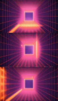 4K方形vj舞台背景视频素材