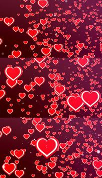 4K红心背景视频素材