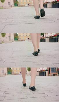 4K行走街上慢步实拍视频素材