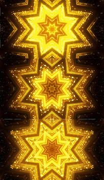 金色八角星背景视频素材