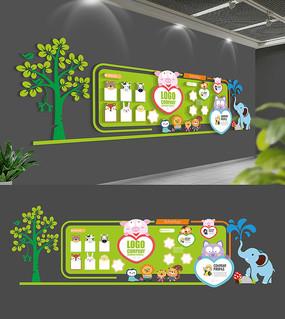 可爱卡通幼儿园文化墙设计