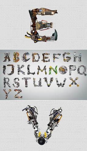 26个字母变形组合视频模板