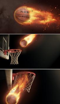 ae篮球比赛视频片头模板