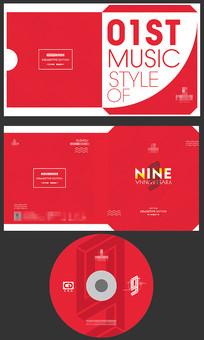红色光盘外套CD设计