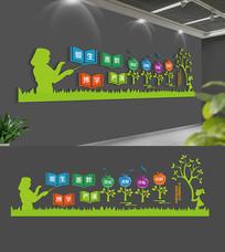 卡通校园文化墙设计