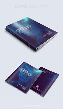 蓝色精品科技背景封面模板