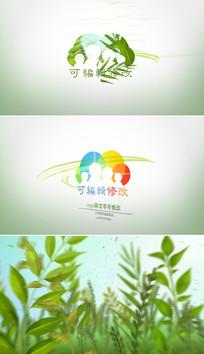 绿色自然生态标志展示ae模板