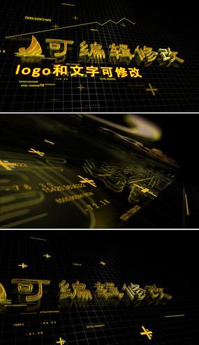 三维数字高科技标志片头模板