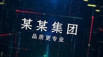 震撼科技logo片头AE模板