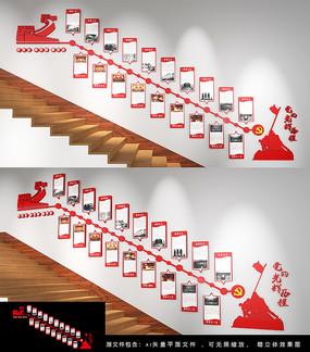 历次党代会党的历程楼梯墙