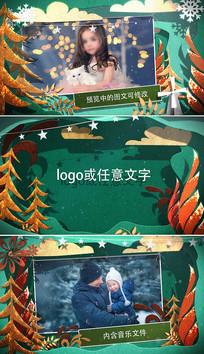 圣诞节新年节日祝福视频模板