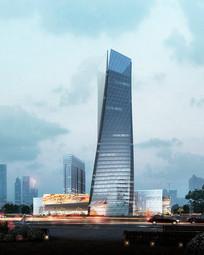 创意时尚造型高层建筑模型