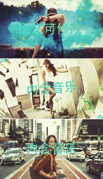 时尚欢快图文展示相册视频模板