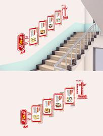 校园德孝文化墙楼梯文化墙