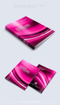 紫色高档大气封面模板素材