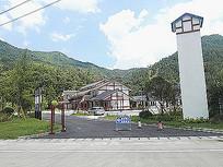 农家乐建筑乡村入口景观