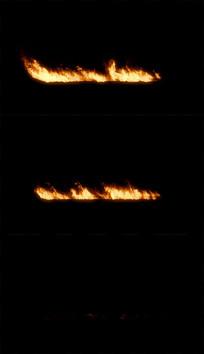 火焰燃烧带通道视频素材
