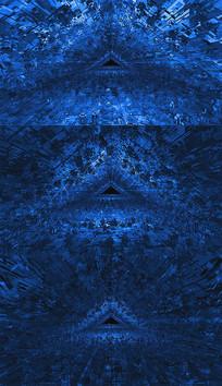 三角形隧道穿梭背景视频素材