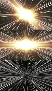 四款循环金色光芒视频素材