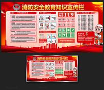 消防安全知识栏宣传展板