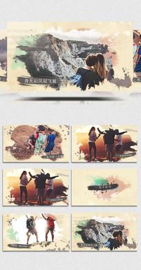 AECC彩色水墨宣传展示视频