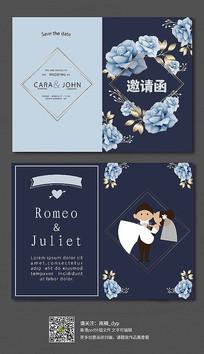 大气森系婚礼邀请函模板设计
