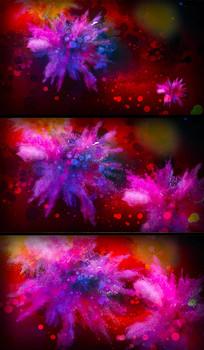 美丽粒子喷溅表演艺术舞台背景