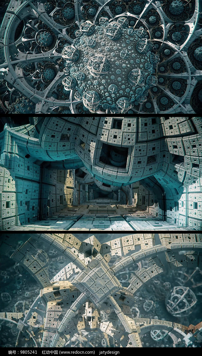 三维立体外星建筑视频素材图片