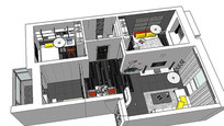 黑色大气室内装修模型