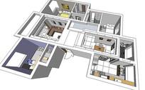 现代室内装修模型